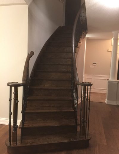 A custom staircase by Floors Direct North